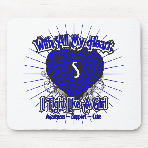 ALS Heart I Fight Like A Girl Mouse Pads