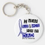 ALS I Wear Blue And White For My Dad 37 Keychains