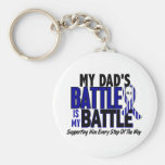 ALS My Battle Too 1 Dad Key Chain