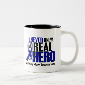 ALS Never Knew A Hero 2 Aunt Two-Tone Coffee Mug