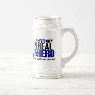 ALS Never Knew A Hero 2 Sister 18 Oz Beer Stein
