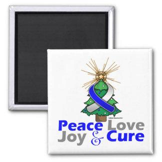 ALS Peace Love Joy Cure Refrigerator Magnets