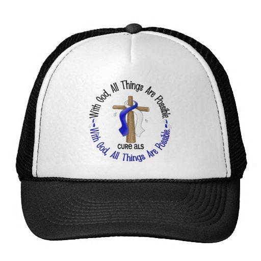 ALS With God Cross Trucker Hat