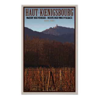 Alsace - Castle Koenigsbourg and vineyard Print