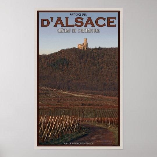 Alsace - Château de l'Ortenbourg Road Poster
