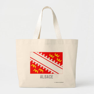Alsace flag with name large tote bag