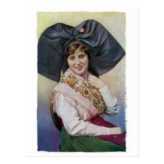 Alsace Girl Postcard