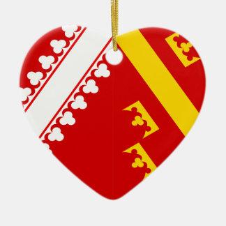 Alsace (Old), France flag Christmas Ornament