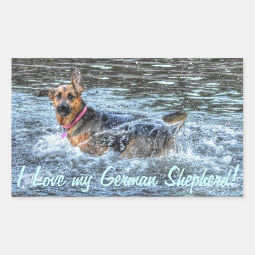 Alsatian German Shepherd 3 Dog-lover Gift Rectangular Sticker