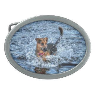 Alsatian German Shepherd 4 Dog-lover Gift Belt Buckle