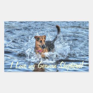 Alsatian German Shepherd 4 Dog-lover Gift Rectangular Sticker