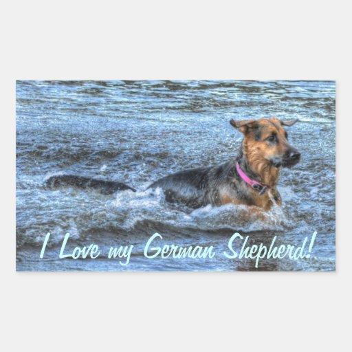 Alsatian German Shepherd 4 Dog-lover Gift Stickers