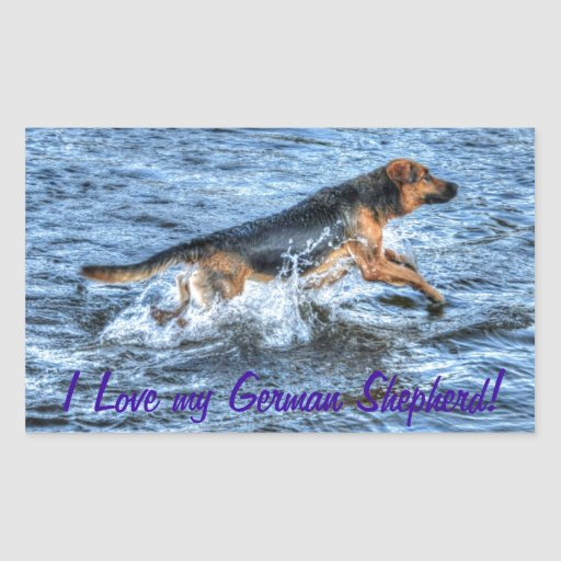 Alsatian German Shepherd 5 Dog-lover Gift Rectangular Sticker