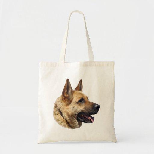 Alsatian German Shepherd dog Tote Bag