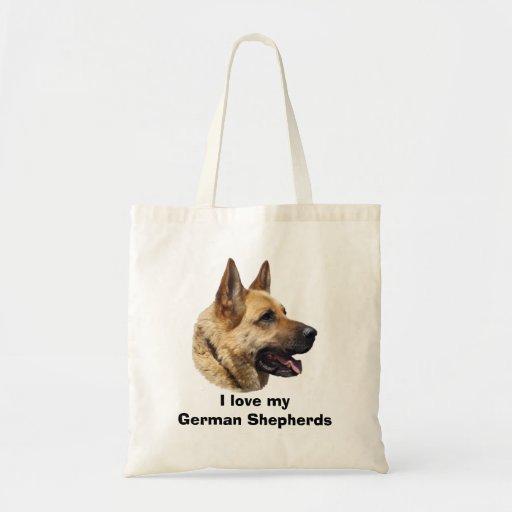 Alsatian German Shepherd dog Bags