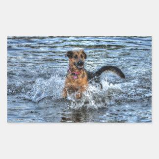 Alsatian German Shepherd Dog-lover Gift Rectangular Sticker