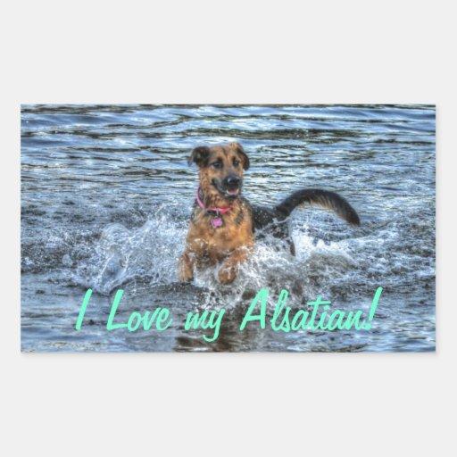 Alsatian German Shepherd Dog-lover Gift Stickers