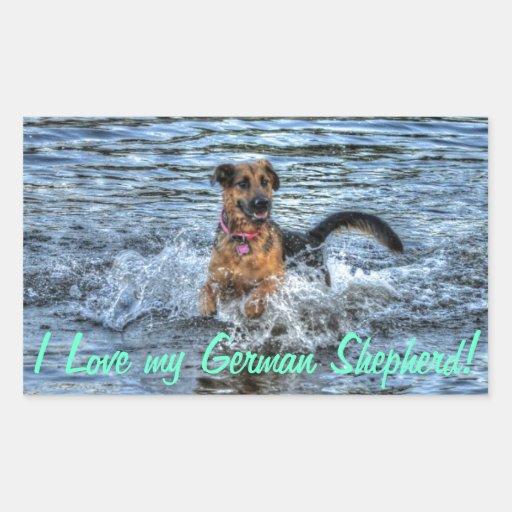 Alsatian German Shepherd Dog-lover Gift Sticker