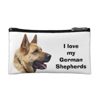 Alsatian German shepherd dog portrait Makeup Bag
