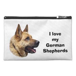 Alsatian German shepherd dog portrait Travel Accessories Bag