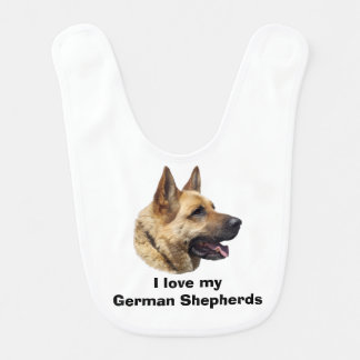 Alsatian German shepherd dog portrait Bib