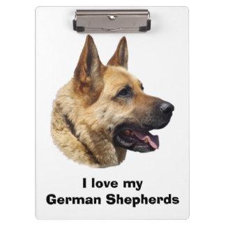 Alsatian German shepherd dog portrait Clipboard