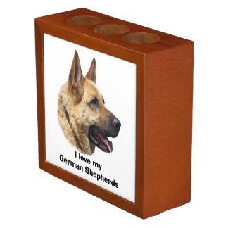 Alsatian German shepherd dog portrait Desk Organiser