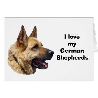 Alsatian German shepherd dog portrait Greeting Card