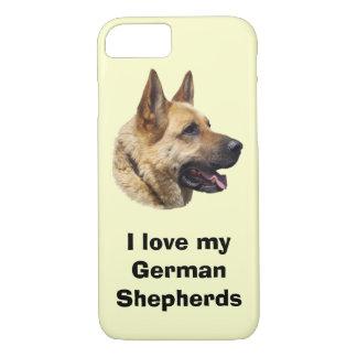 Alsatian German shepherd dog portrait iPhone 8/7 Case