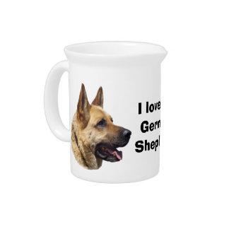 Alsatian German shepherd dog portrait Pitcher