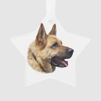 Alsatian German shepherd portrait Ornament