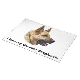Alsatian German shepherd portrait Placemat