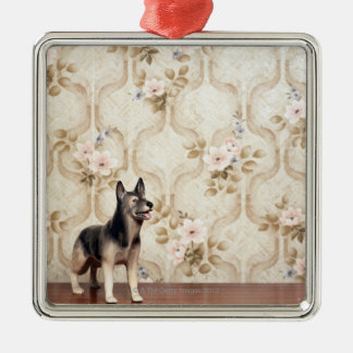Alsation dog christmas ornament