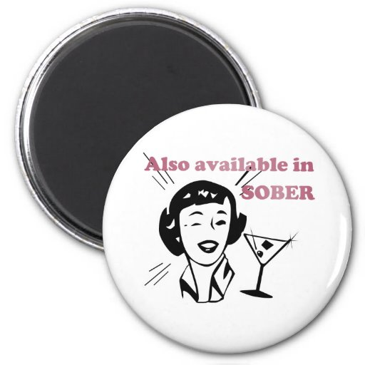 Also Available in SOBER - Drinking Retro Lady Fridge Magnet
