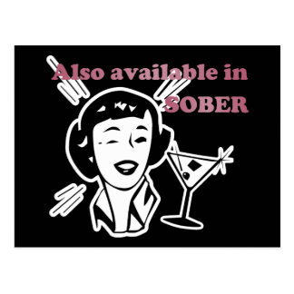 Also Available in SOBER - Drinking Retro Lady Postcard