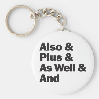 Also Plus And humor Basic Round Button Key Ring