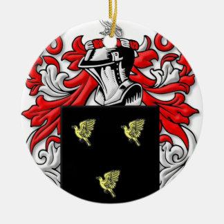 Alsop Coat of Arms Round Ceramic Decoration