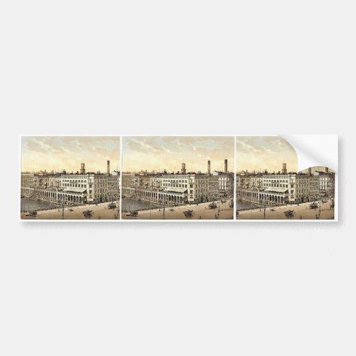 Alster Arcade and Hotel St. Petersburg, Hamburg, G Bumper Stickers