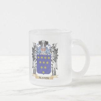 Alston Coat of Arms - Family Crest Frosted Glass Coffee Mug