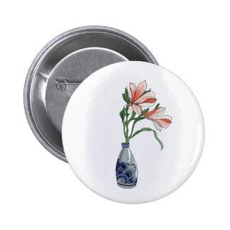 Alstroemeria 6 Cm Round Badge