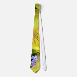 Alstroemeria and  Lilacs Flowers Tie