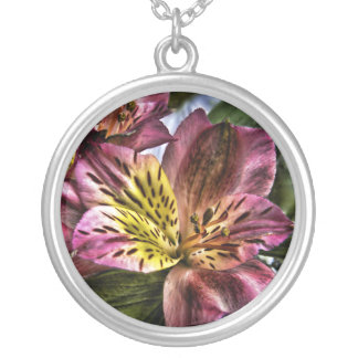 Alstroemeria Peruvian Lily flower necklace
