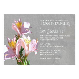 Alstroemeria Wedding Invitations