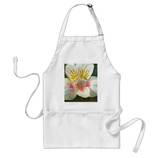 Alstroemeria White Flower Apron
