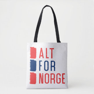 Alt For Norge Tote Bag, Norwegian Motto