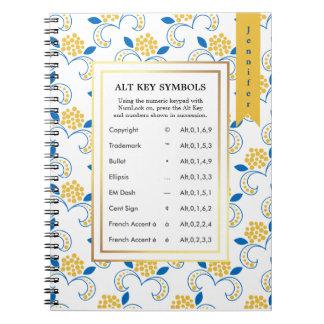 Alt Key Symbols for Writers Notebook