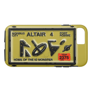 ALTAIR FOUR SPACE LICENSE PLATE by Jetpackcorps iPhone 8/7 Case