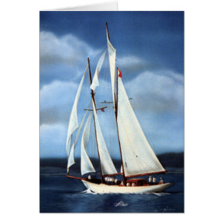 Altair Sailing Yacht Card
