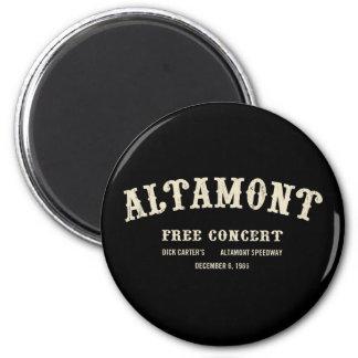 Altamont Free Concert 6 Cm Round Magnet
