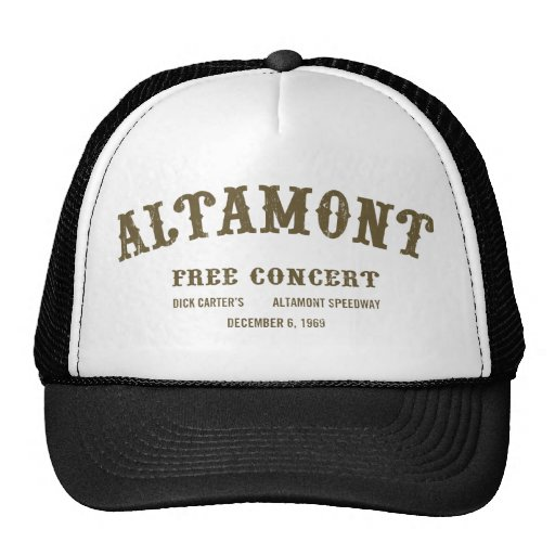Altamont Free Concert Trucker Hats